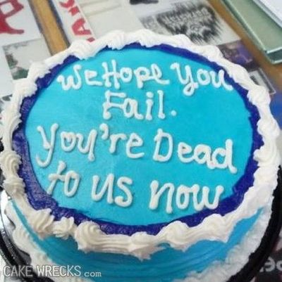 Going Away cake---can't stop laughing! / funny things! - Juxtapost