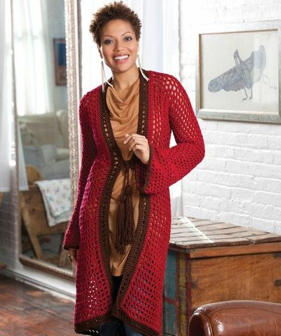 Long on Looks Cardie, makes me want to learn how to crochet!!