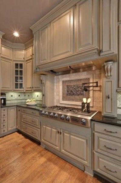 Paint color tapestry beige benjamin moore for my for Beige painted kitchen cabinets