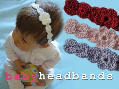 Crochet Dreamz Baby Headband With Flowers Free Crochet Knits