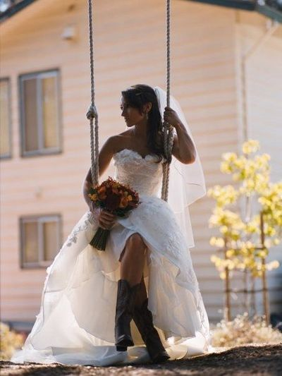 Cowboy Boots Wedding Dress Gowns Juxtapost