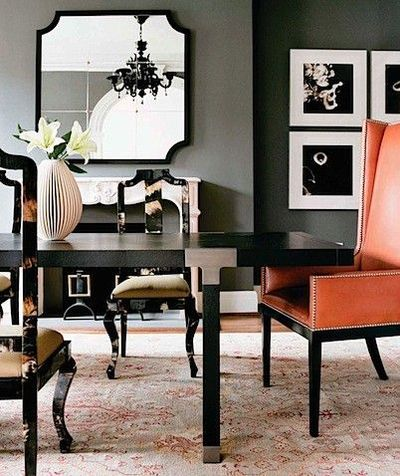 Pleasant Steel Gray Walls With A Salmon Colored Accent Chair For Short Links Chair Design For Home Short Linksinfo