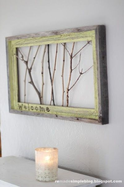 More Uses for Old Frames - or Homemade framesHomemade Picture Frames