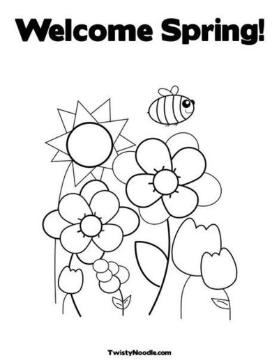 spring kindergarten coloring pages - photo#21