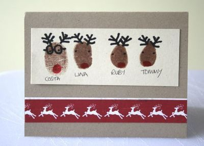 DIY Christmas Cards / Preschool items - Juxtapost