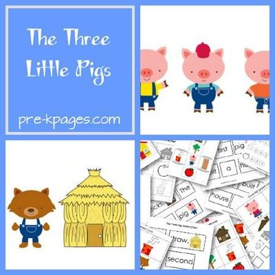 three little pigs fairy tale activities for preschool and ki preschool items juxtapost. Black Bedroom Furniture Sets. Home Design Ideas