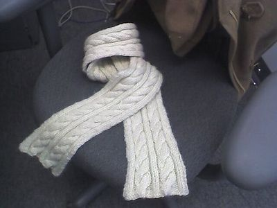Free Knitting Pattern Chunky Cable Scarf : simple cabled scarf free pattern using super chunky yarn. re... / crochet ide...
