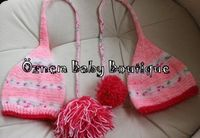 Knitting Tassel Ponpon Baby Hat for Girl by OznemBabyBoutque, $22.85