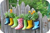 Rubber Boot Container Garden