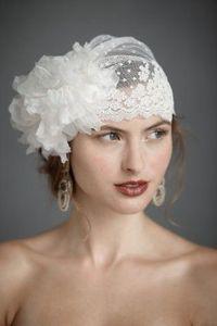 Vintage wedding veil headpiece