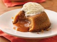 butterscotch lava cake with ice cream