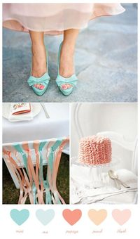 Mint + blush (from The Sweetest Occasion)