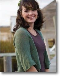 A nice, light cardigan. The Whisper Cardigan by Hannah Fettig.