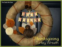 Thanksgiving Decorations. Thanksgiving burlap and turkey wreath. Found via TipJunkie.com