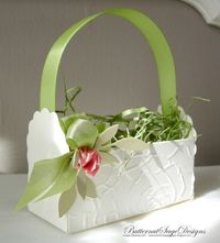 Cute basket using Stampin' Up! Two tag die.