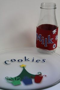 DIY Cookie Plate and Milk Jug using modge podge