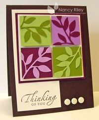 i STAMP by Nancy Riley: LITTLE LEAVES I like this layout