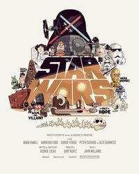 Star Wars artwork by Christopher Lee. http://www.thebeastisback.com/blog/
