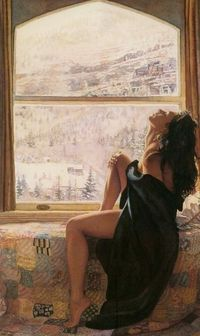 Spirit and Essence of Women in The Paintings: Painter of these fascinating paintings is Steve Hanks and we think he has done an amazing job in capturing the spirit and essence of these women in the paintings. Very realistic character makes slight border b...