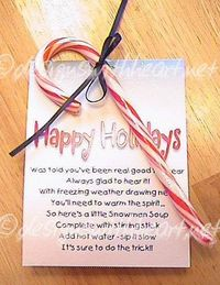 Snowman Soup - single serving package with poem -