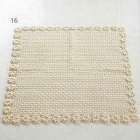 Baby Blanket with Flower Edge free crochet pattern