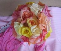 Coffee filter roses--tutorial--looks time consuming, but beautiful results