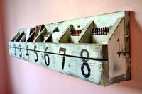 numbered wall art cubbies