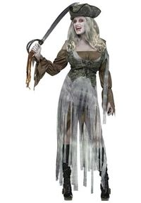Women's Zombie Pirate costume #Halloween #Scary