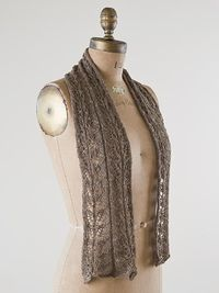 a beautiful textured scarf in silk and linen