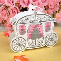 Let you walking into the fairy tale! This carriage like wedding favor box is just perfect for your princess style wedding theme. Of course, each piece needs your considerate and concentrated handwork to complete. And even your guests who get notice of it ...