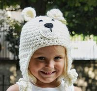 #crochet #hat #bear #winter #etsy http://www.etsy.com/listing/76900724/snow-white-floral-teddy-bear-hat
