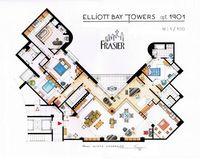 Frasier's Apartment Houseplan