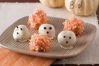 I'm going to make these using cake pops inside, and decorate to look like pumpkins & ghosts.