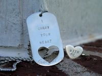 I carry your heart dog tag and ring set in Sterling Silver, for HUMAN and DOG!