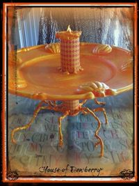 House of Dewberry: Dollar Store Halloween Craft Orange Pumpkin Serving Tray