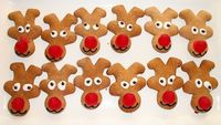 Adorable reindeer cookies! Upside down gingerbread man...fun!