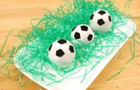 Soccer Cake Balls - Olympic Party anyone?