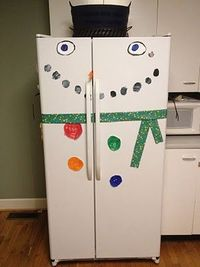 Decorate fridge for Christmas!