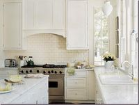 Carrara marble kitchen-Southern Accents