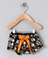 Orange & Black	Skull Diaper Cover