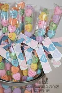 candy hearts in skinny bags