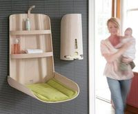 Foldable changing table.