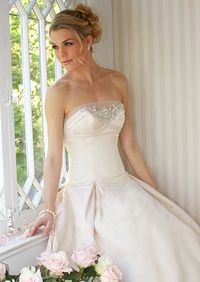A-Line Dresses from Randy to the Rescue: Randy to the Rescue: TLC Pleats in front, blush colour is beautiful!