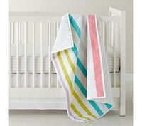 Sherbet Striped Crib Bedding, such an adorable quilt! I should make one for baby.