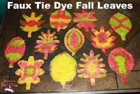 Faux Tie Dye Fall Leaves from coffee filters and bingo daubers! What fun designs will you create?