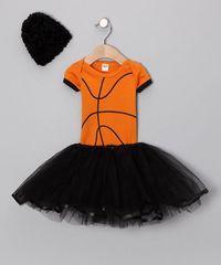 Orange Basketball Tutu Set