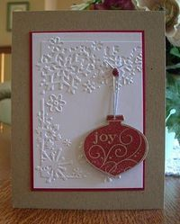 Christmas Ornament color combo card