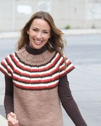 Free Bernat Knit Pattern - Featuring bright, playful stripes, this colorful pullover is a great piece for cozy layering.