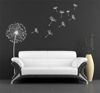 Dandelion , wall decal for home decoration.