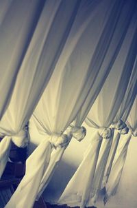 Knotted fabric panels